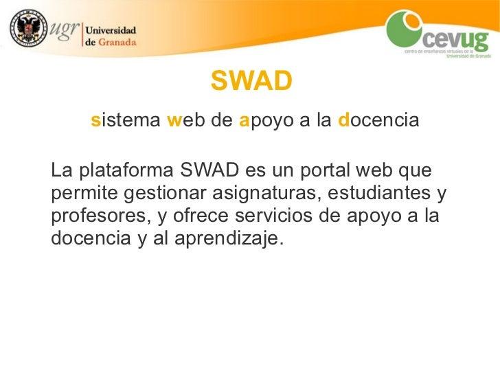 SWAD: introducción y funcionalidades Slide 2