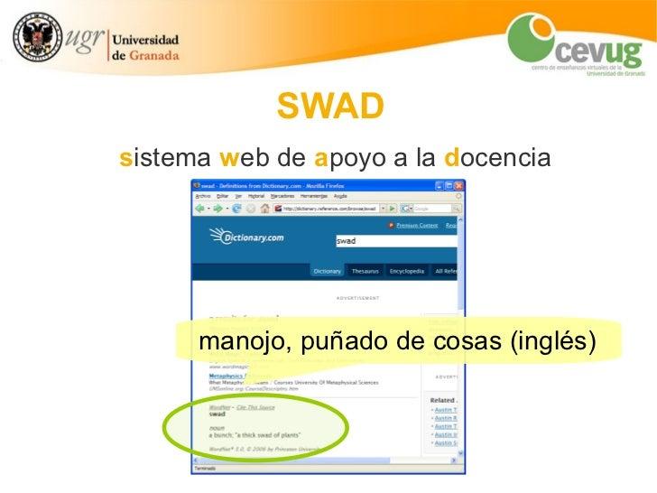SWAD: introducción y funcionalidades Slide 3