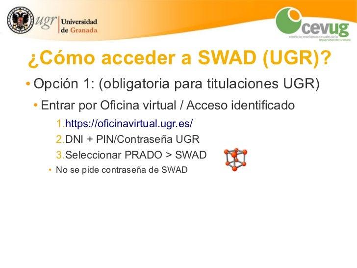 SWAD: manual básico Slide 2