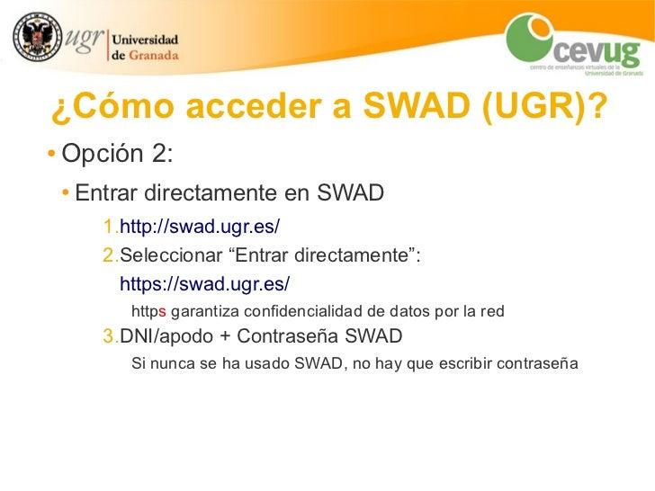 SWAD: manual básico Slide 3