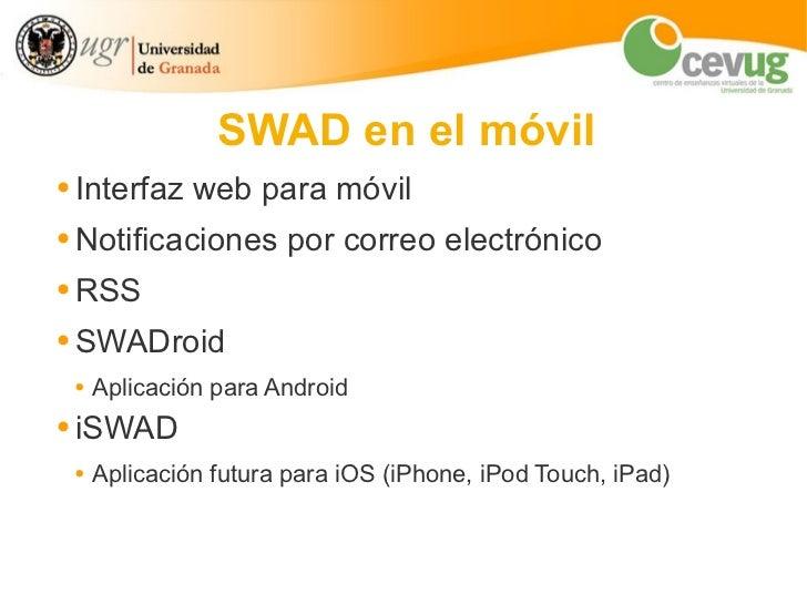 SWAD: en el móvil Slide 2