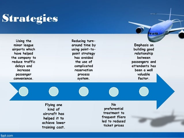 southwest airlines business strategy Southwest airlines believes happy employees translate to happy customers.