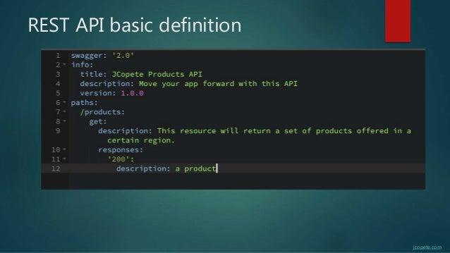 REST API basic definition jcopete.com