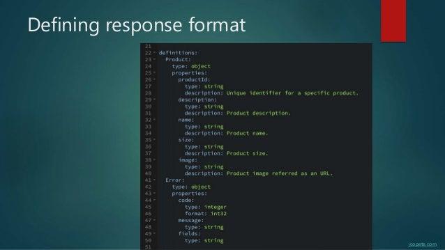 Defining response format jcopete.com