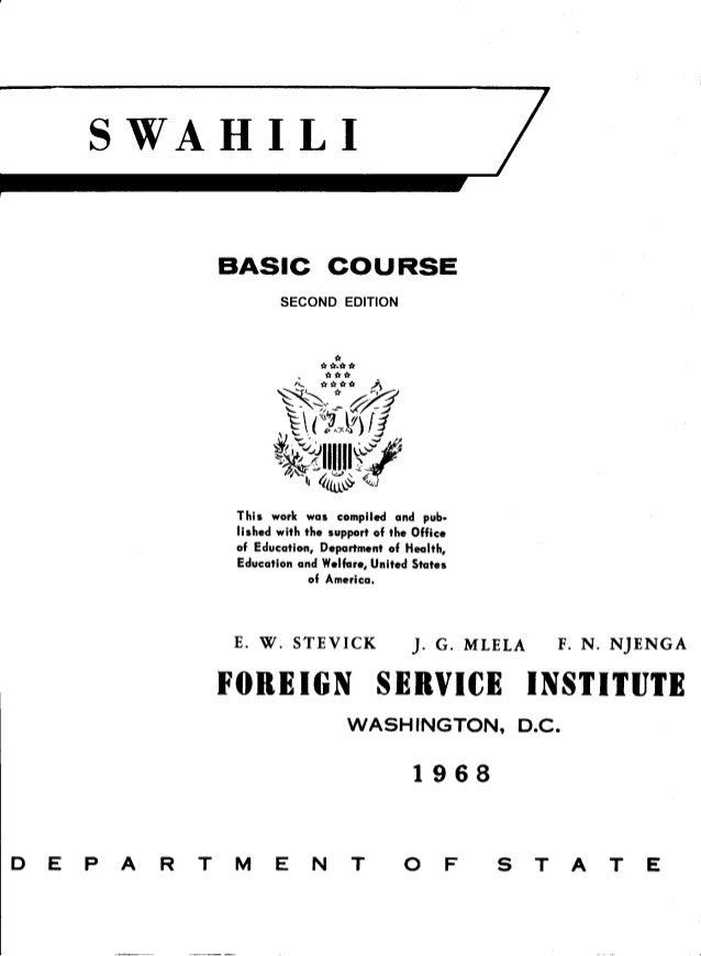 Learn Swahili - FSI Basic Course