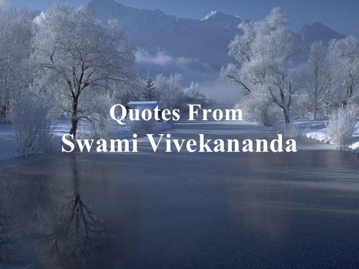 Quotes From Swami Vivekananda                       1