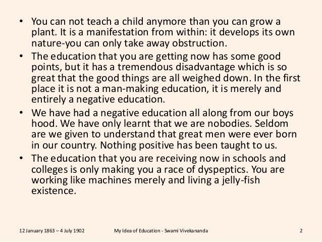 vivekananda views on education