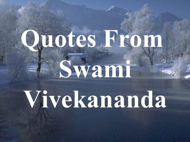Quotes From  Swami Vivekananda
