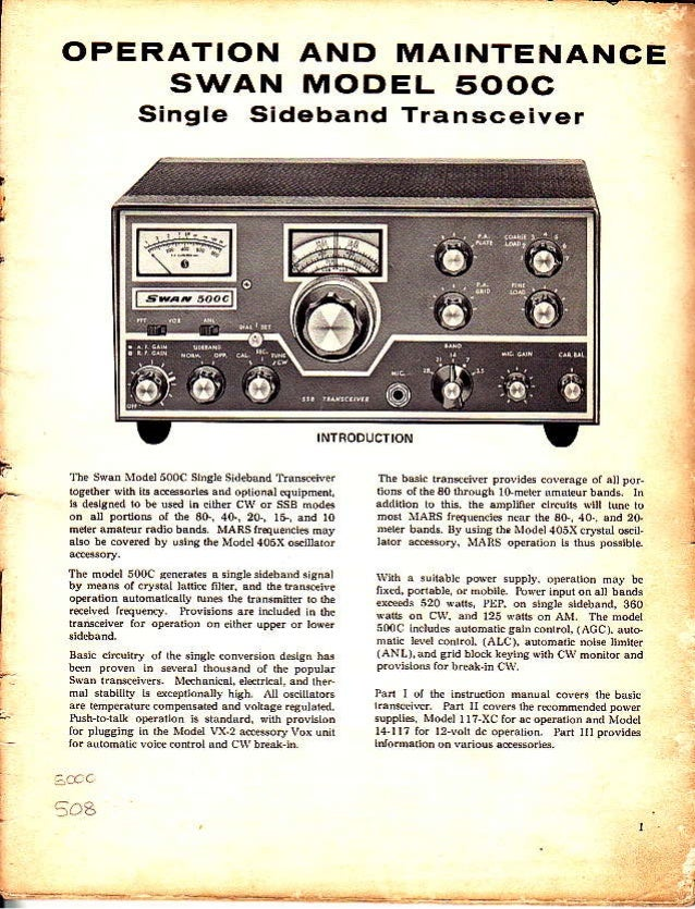 swan 500c service manual rh slideshare net Swan 500Cx Transceiver Swan Transceivers