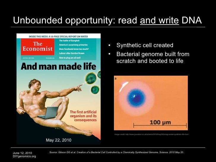 Unbounded opportunity: read and write DNA                                                                                ...