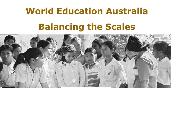 World Education Australia Balancing the Scales
