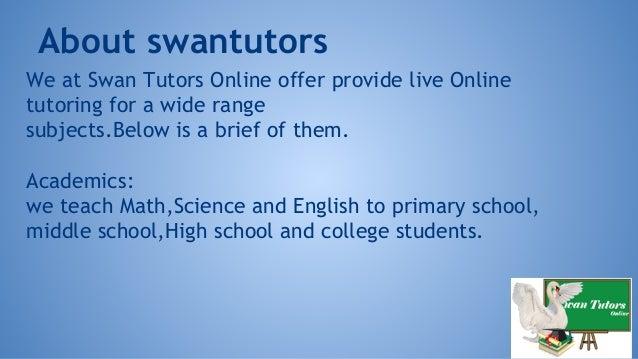 Swan tutors online Slide 2
