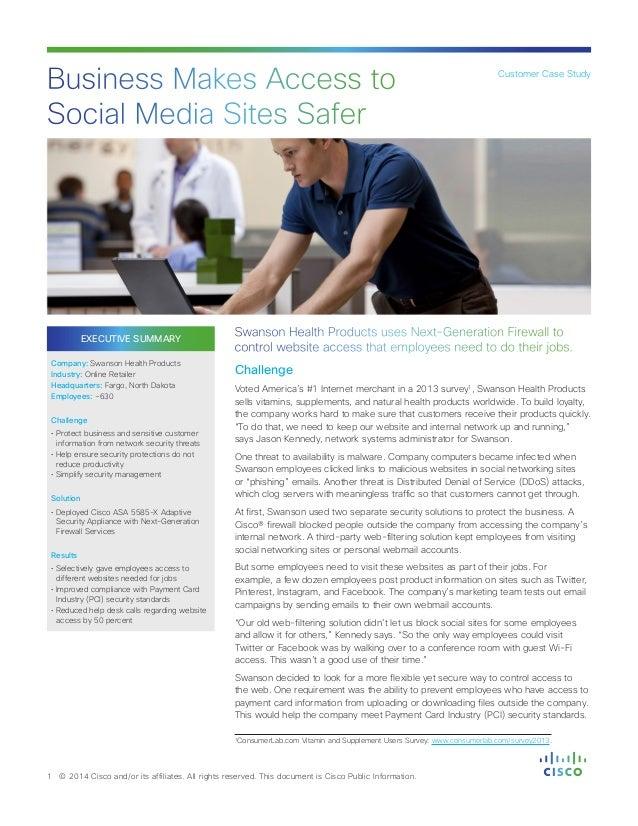 EXECUTIVE SUMMARY Company: Swanson Health Products Industry: Online Retailer Headquarters: Fargo, North Dakota Employees: ...