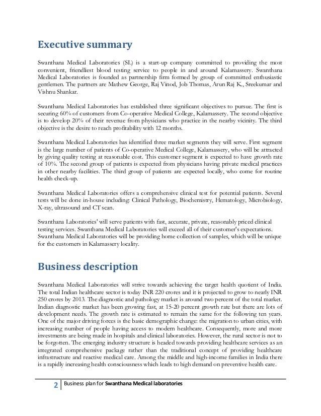 Pathology lab business plan