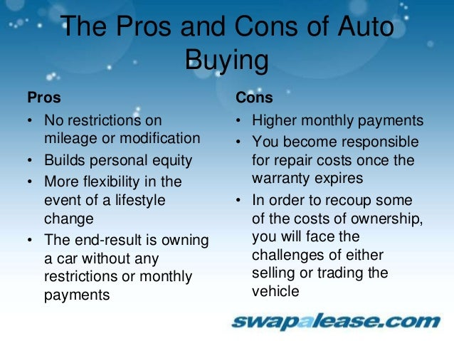 Lease A Car Vs Buying A Car Pros Vs Cons