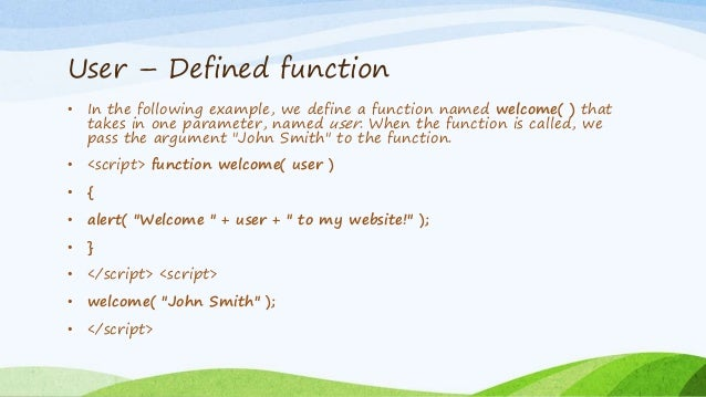 predefined and user defined functions