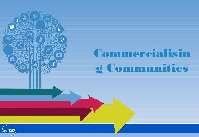 Commercialisin g Communities