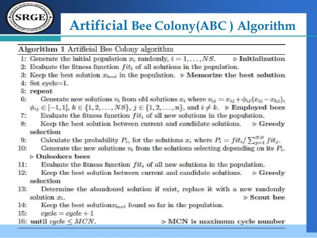 enhancement of bee colony algorithm using Bee colony algorithm (abc), proposed by karaboga in 2005 for real-parameter optimization, is a recent optimiza-tion fig algorithm which simulates the foraging .