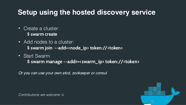 Docker swarm 0 2 0 for Docker hub consul