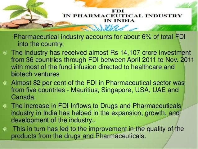 FDI IN PHARMACEUTICAL INDUSTRY IN INDIA