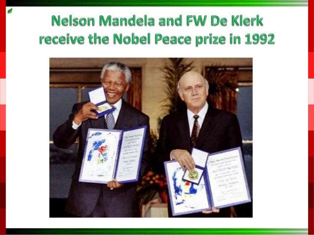 Why do nelson mandela won the nobel prizes