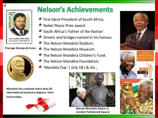the life and contributions of nelson mandela Among books about nelson mandela and his legacy, here are five top  any  politician's autobiography, especially one published on the eve of.
