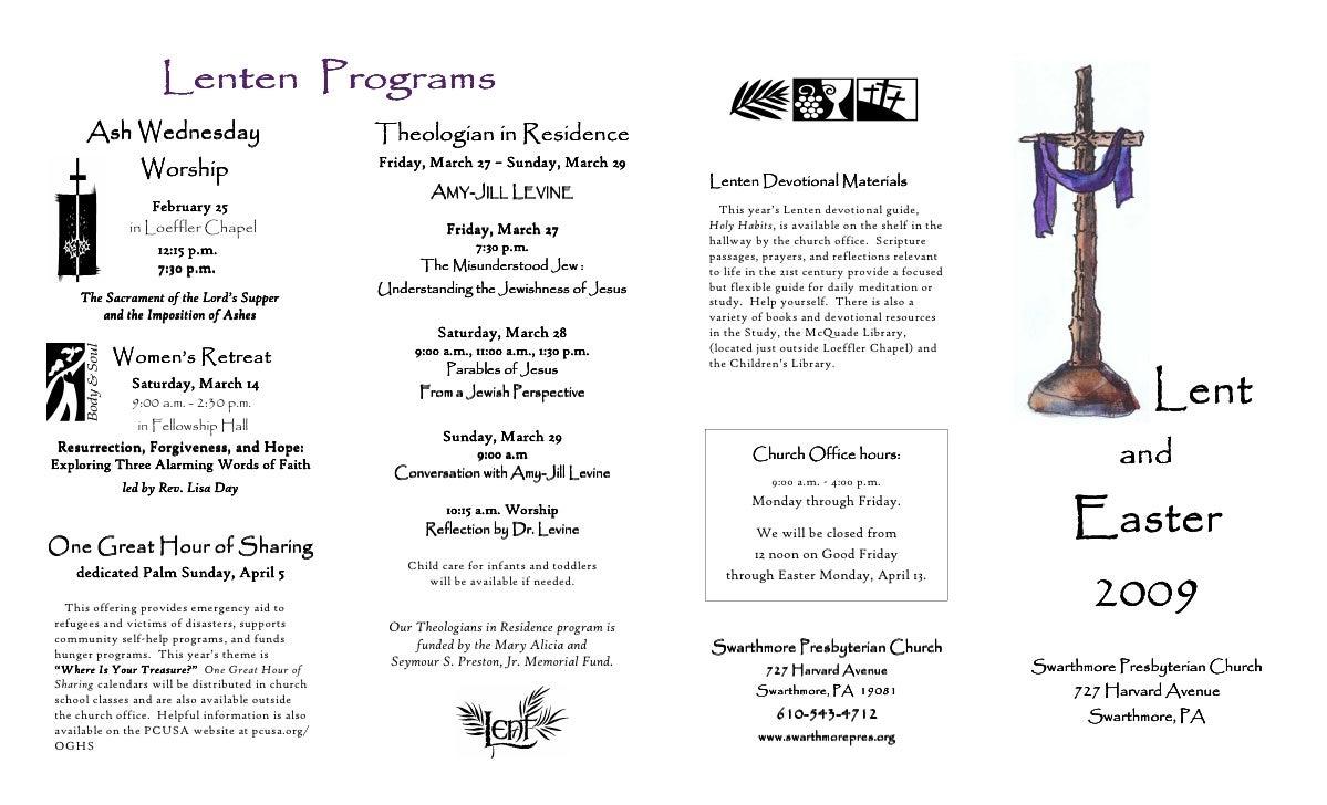 Lenten Programs      Ash Wednesday                                Theologian in Residence                                 ...