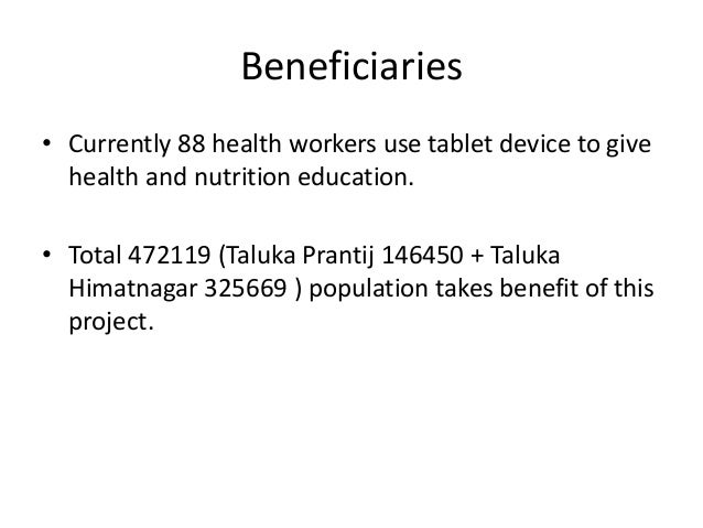 Support  • Technical support is given by UNICEF. Also mobisodes of  various health activities are given by UNICEF.  • NHL ...