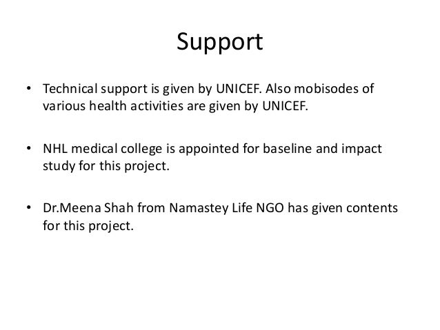 Contents used in Mobile Application  No. Contents No. of ppt/Video  1 Women's health 16  2 Adolescent health 6  3 Child ca...