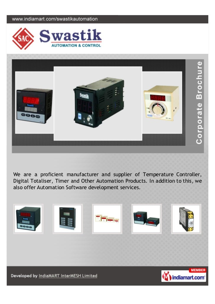 We are a proficient manufacturer and supplier of Temperature Controller,Digital Totaliser, Timer and Other Automation Prod...