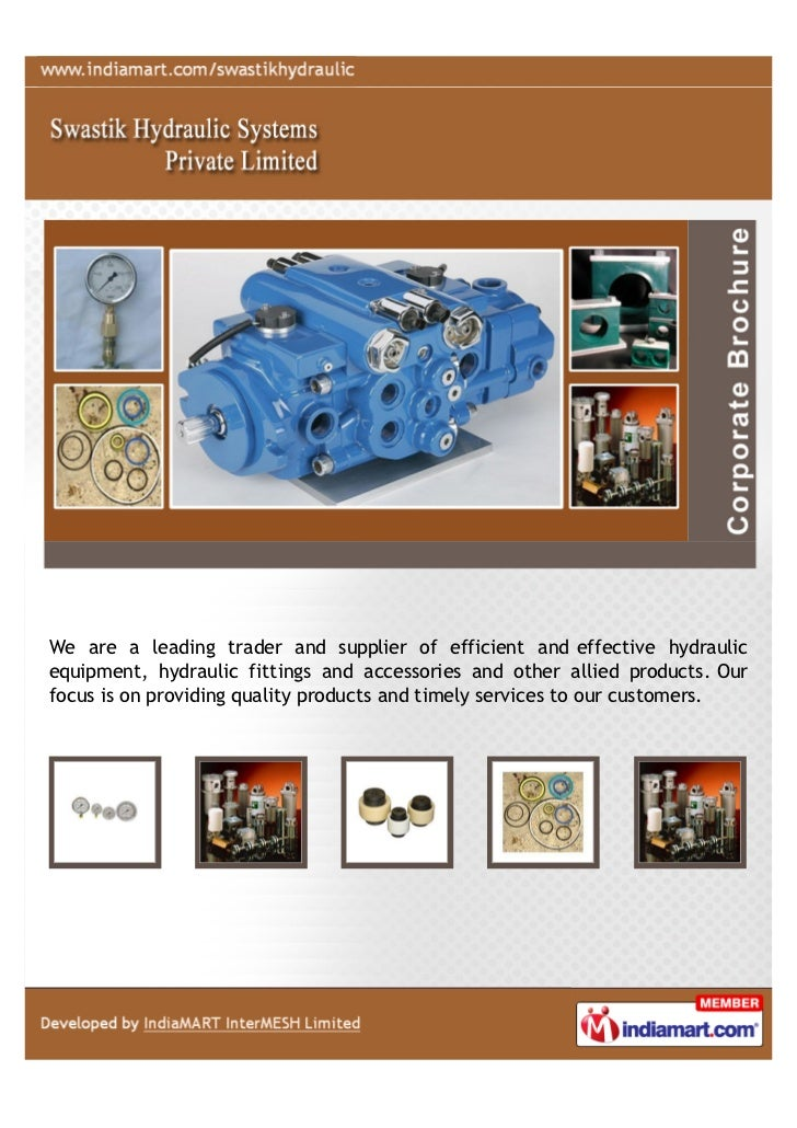 We are a leading trader and supplier of efficient and effective hydraulicequipment, hydraulic fittings and accessories and...