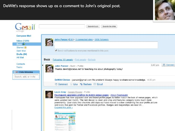 DeWitt's response shows up as a comment to John's original post.