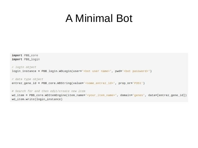 A Minimal Bot