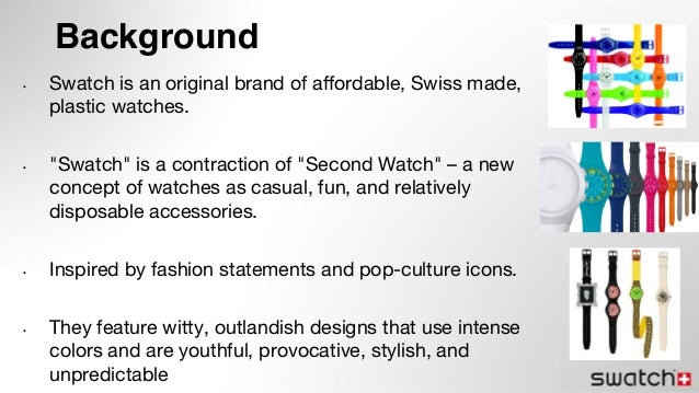 a creative marketing strategy for swatch Swatch hints  1 marketing assets  swiss strategy fashion reframe but  analytic and creative 15810 marketing management  media spend (ex 5) percent.