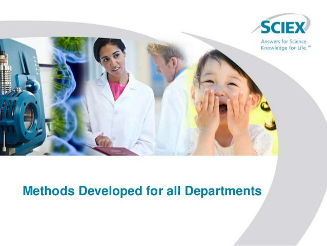 Methods Developed for all Departments