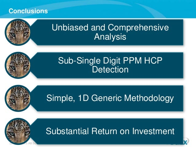 22 © 2015 AB Sciex Conclusions Unbiased and Comprehensive Analysis Sub-Single Digit PPM HCP Detection Simple, 1D Generic M...