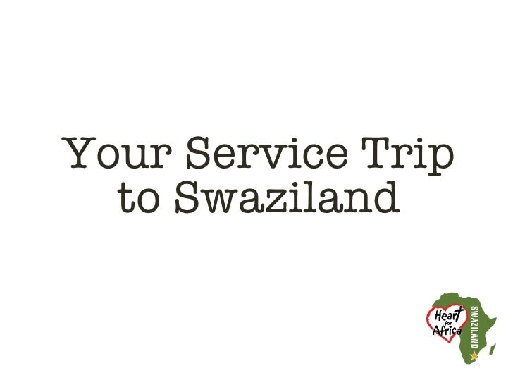 Your Service Trip  to Swaziland
