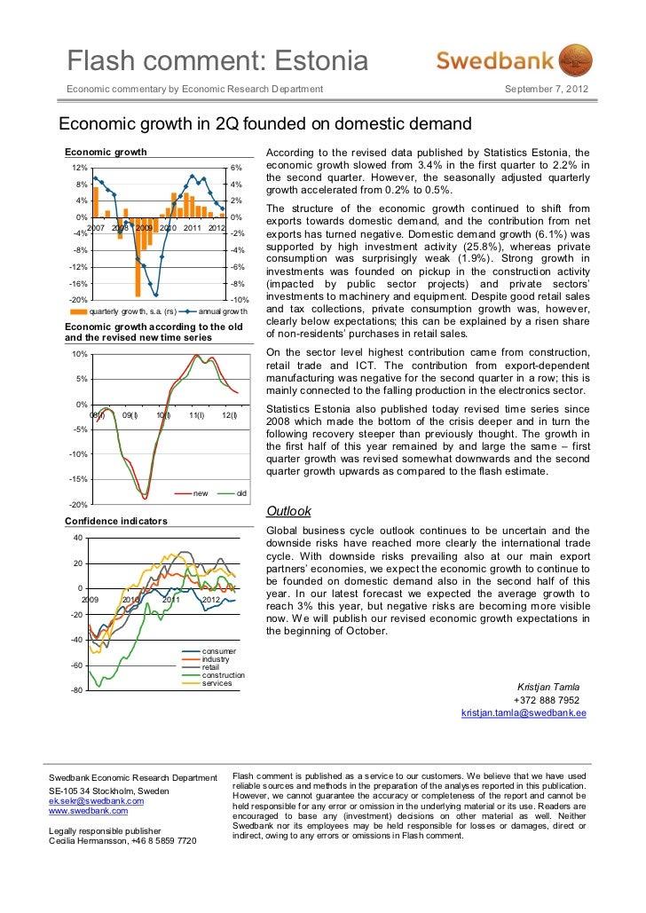 Flash comment: Estonia    Economic commentary by Economic Research Department                                             ...