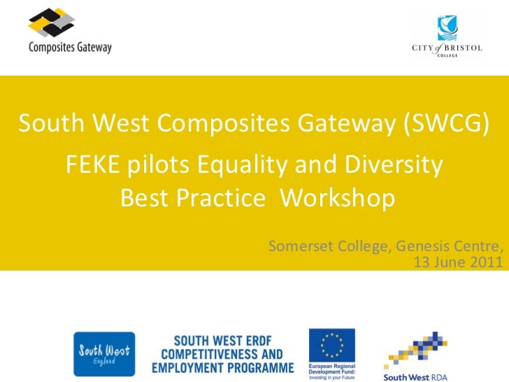 South West Composites Gateway (SWCG)   FEKE pilots Equality and Diversity       Best Practice Workshop                   S...