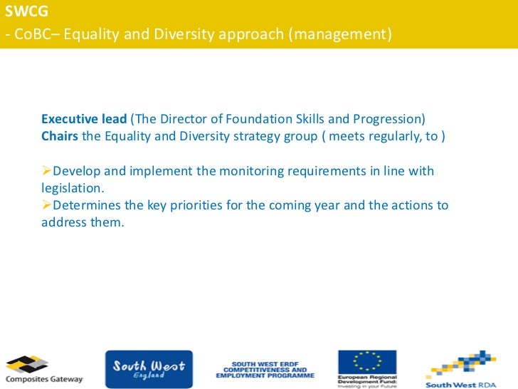 a discussion of equality and diversity Any resource that includes an obvious aspect of equality and/or diversity issues  equality and diversity, inclusion  missing headlines), discussion and writing .