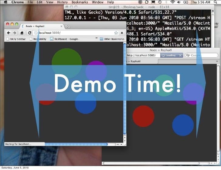 Demo Time!   Saturday, June 5, 2010
