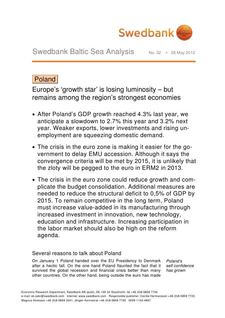 Swedbank Baltic Sea Analysis                                                  No. 32      28 May 2012        Poland      ...