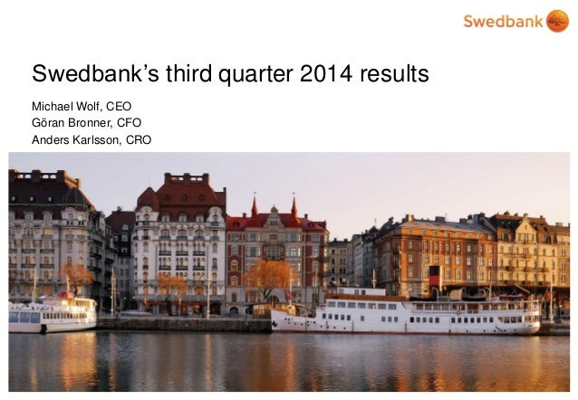 Swedbank's third quarter 2014 results