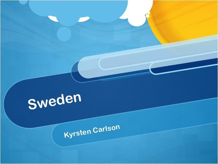 Sweden Kyrsten Carlson