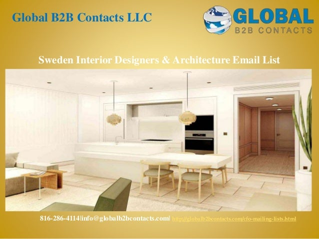 Sweden interior designers & architecture email list