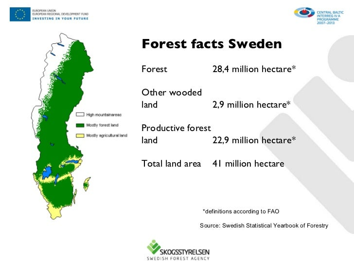 Overview Of Bio Energy Use In Sweden - Sweden forest map
