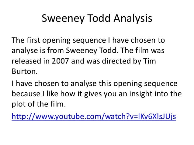 sweeney todd analysis essay