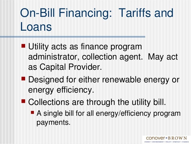 Models for Financing Clean Energy- SWEEP 2009