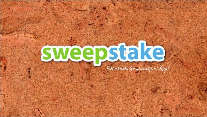 sweepstake     Facebook Gewinnspiel App!