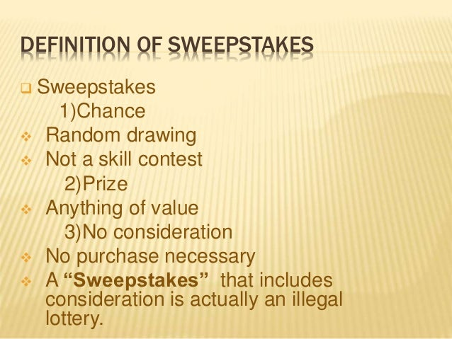 define sweepstakes sweepstakes contests 2702